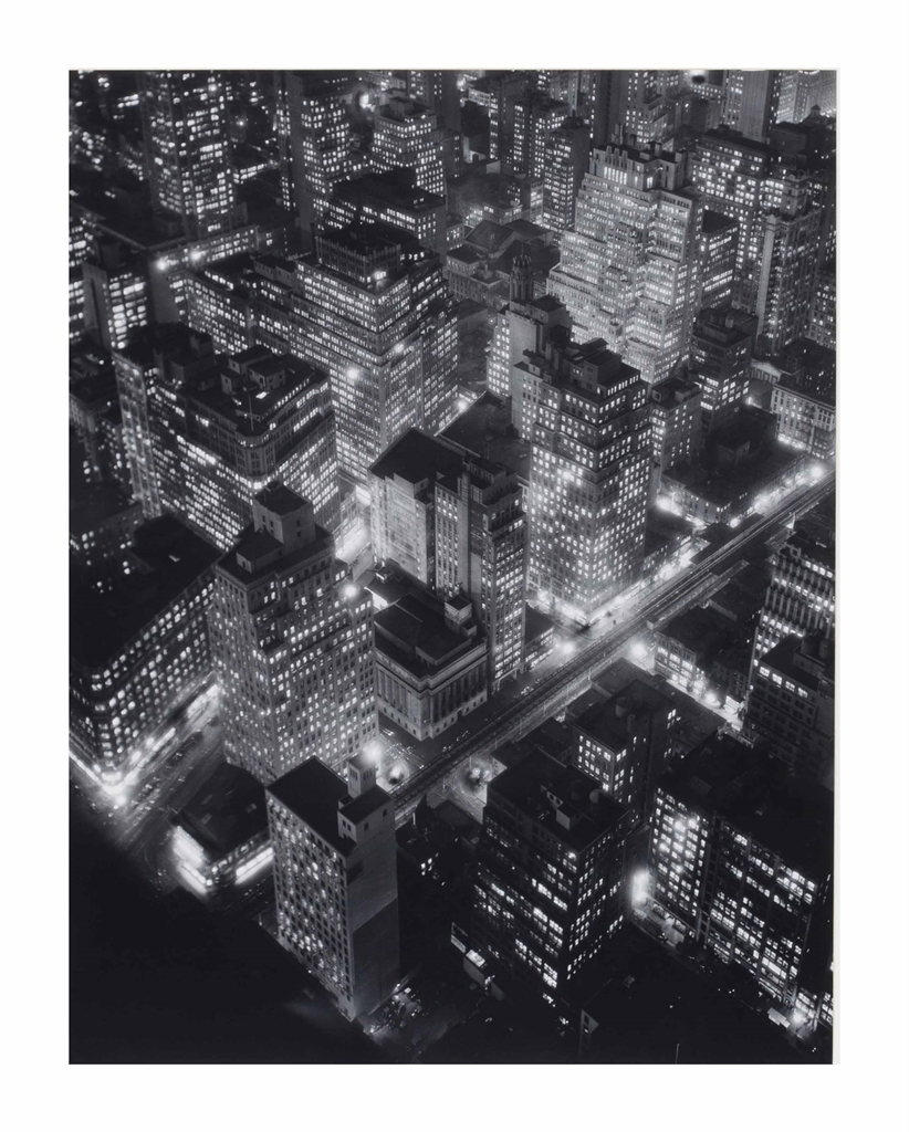 Berenice Abbott-Nightview, New York at Night, Empire State Building-1932
