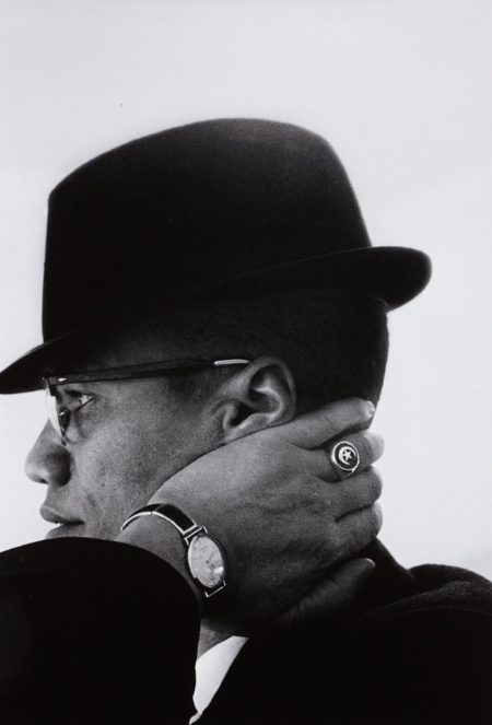 Eve Arnold-Malcolm X, Chicago-1961