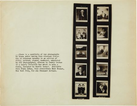 Diane Arbus-Promotion Flyer For 'A Box Of Ten Photographs'-1971