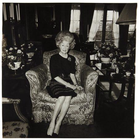 Diane Arbus-Mrs. T. Charlton Henry On A Floral Easy Chair, Philadelphia, Pa.-1965