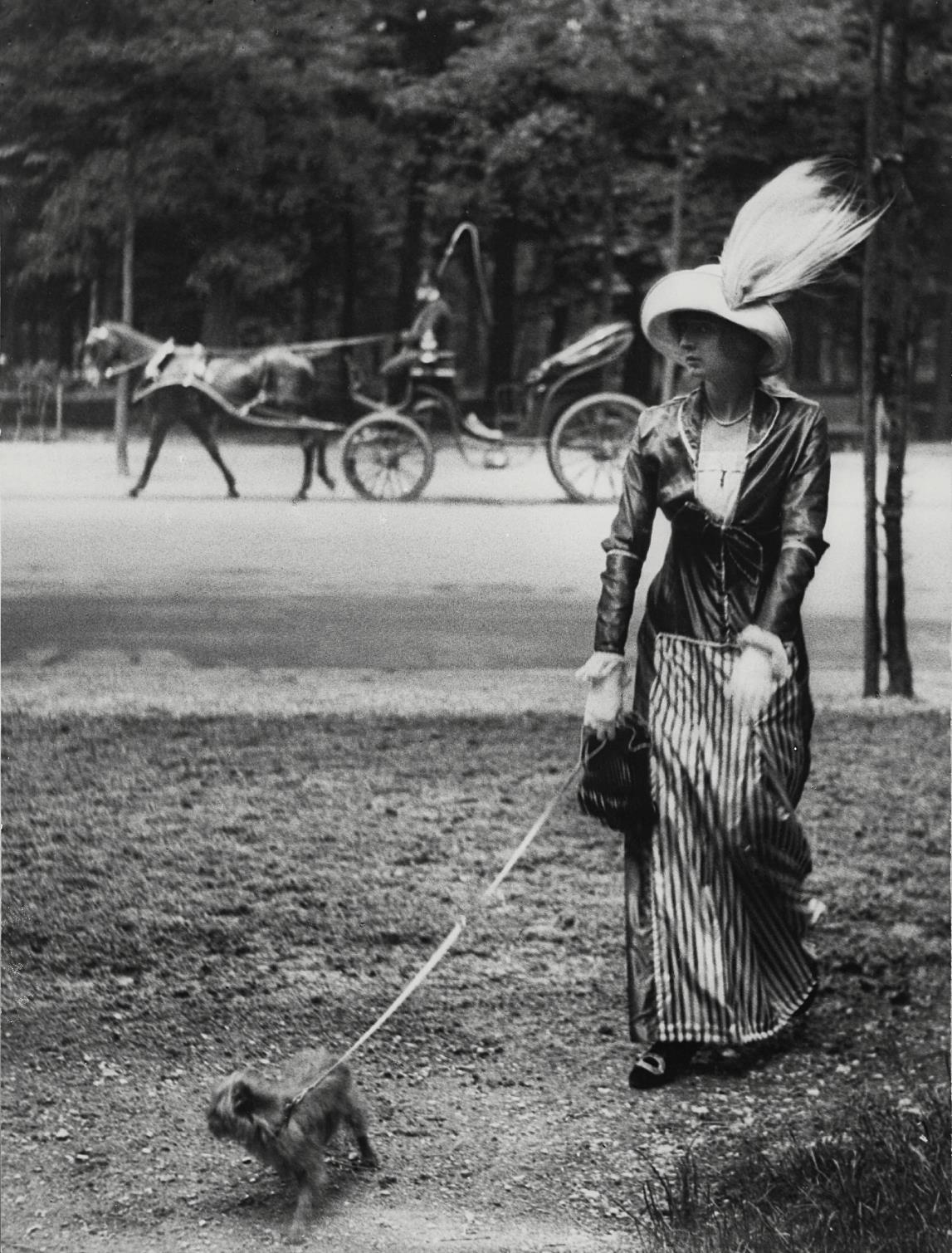 Jacques Henri Lartigue-Marie Lancret A Well-Known Demi-Mondaine Who I Found Particularly Seductive-1906