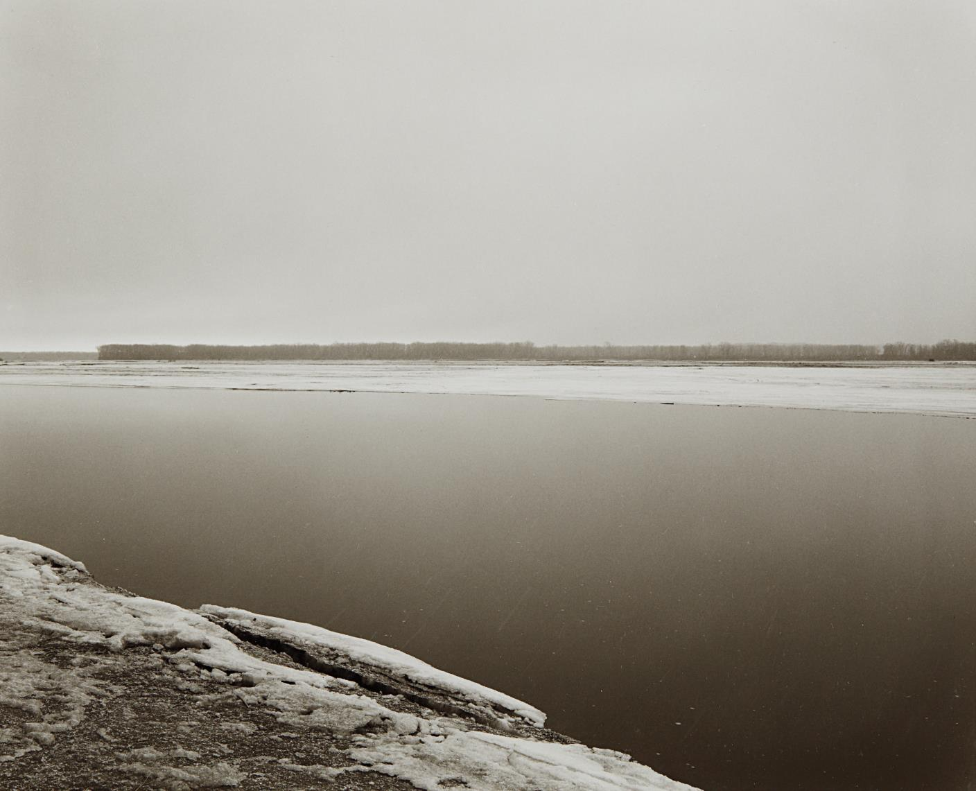 Robert Adams-Concrete And Ice, Missouri River, Clay County, South Dakota-1977