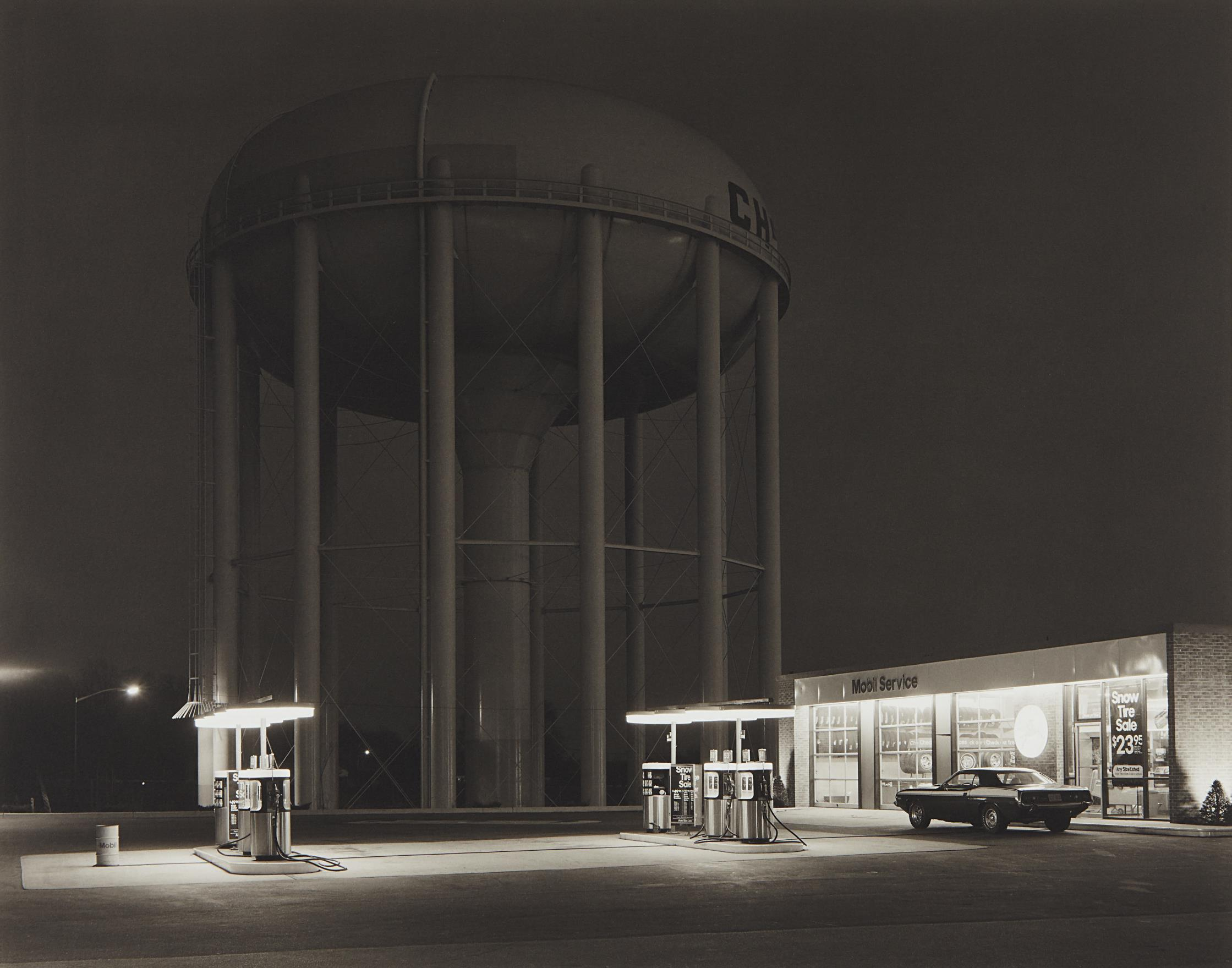 George Tice-Petit's Mobil Station, Cherry Hill, New Jersey-1974