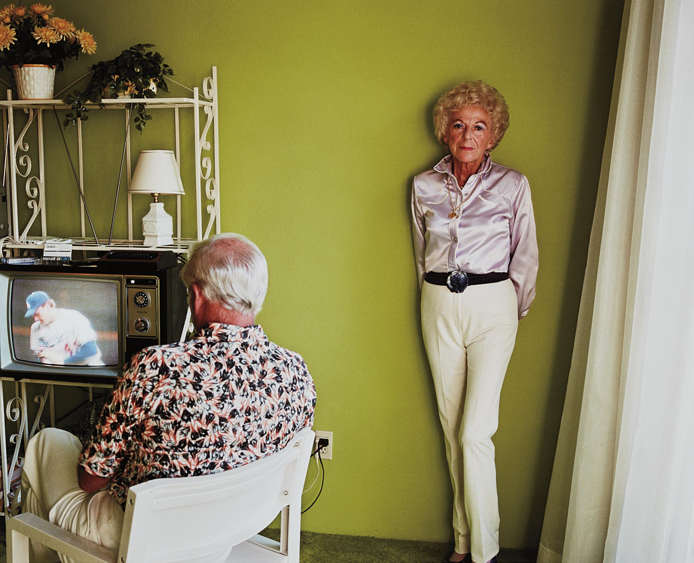 Larry Sultan-My Mother Posing For Me From Pictures Of Home-1984