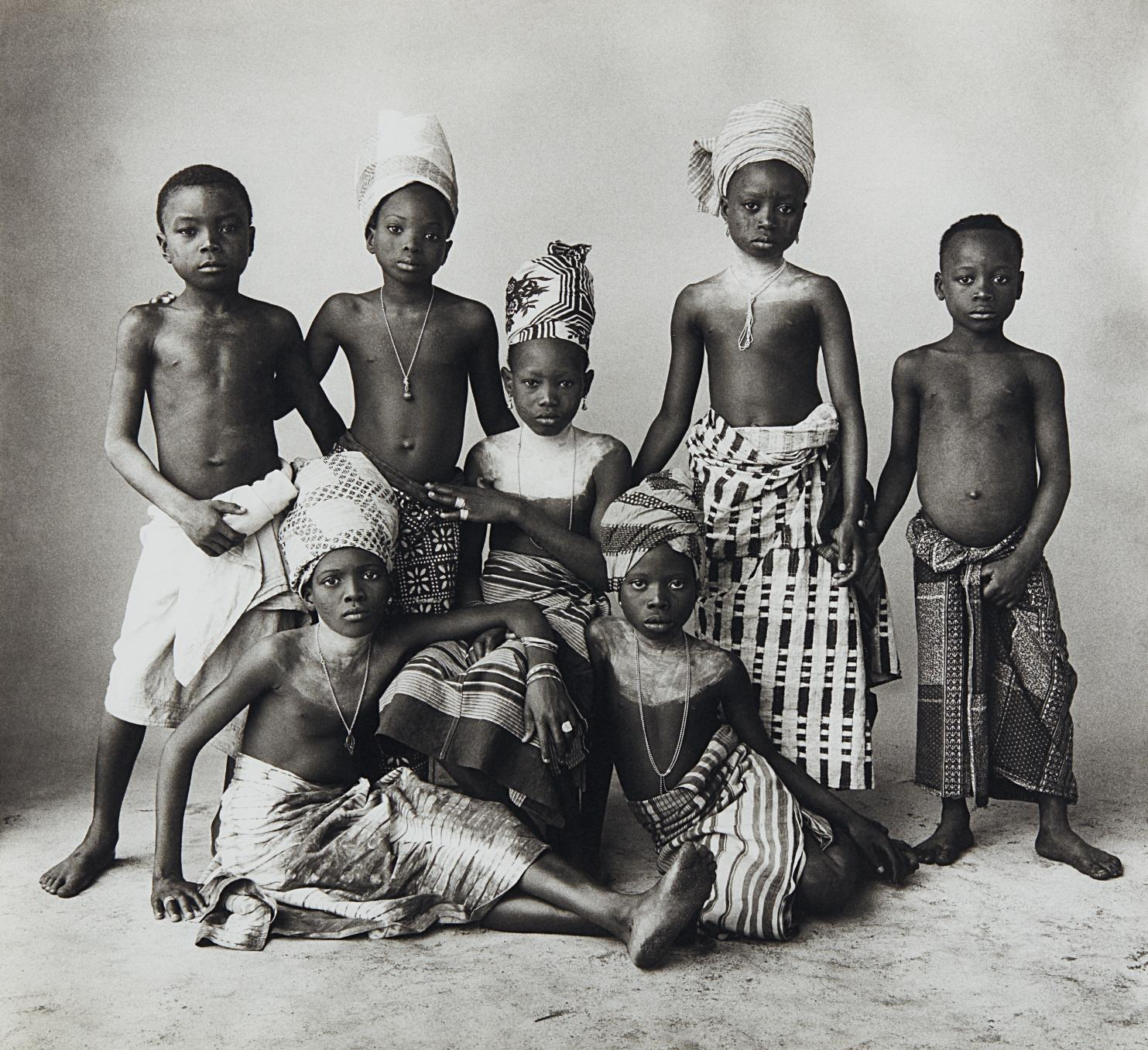 Irving Penn-Dahomey Children-1967
