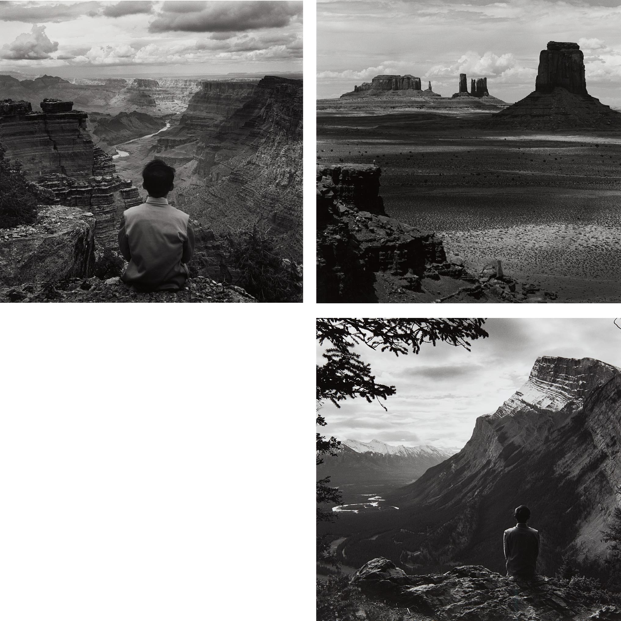 Tseng Kwong Chi-Grand Canyon, Arizona; Monument Valley, Arizona; Banff National Park, Alberta, Canada-1987