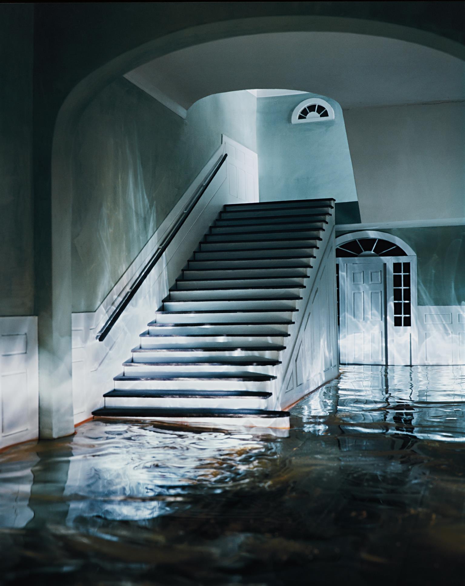 James Casebere-The Green Staircase #1-2002