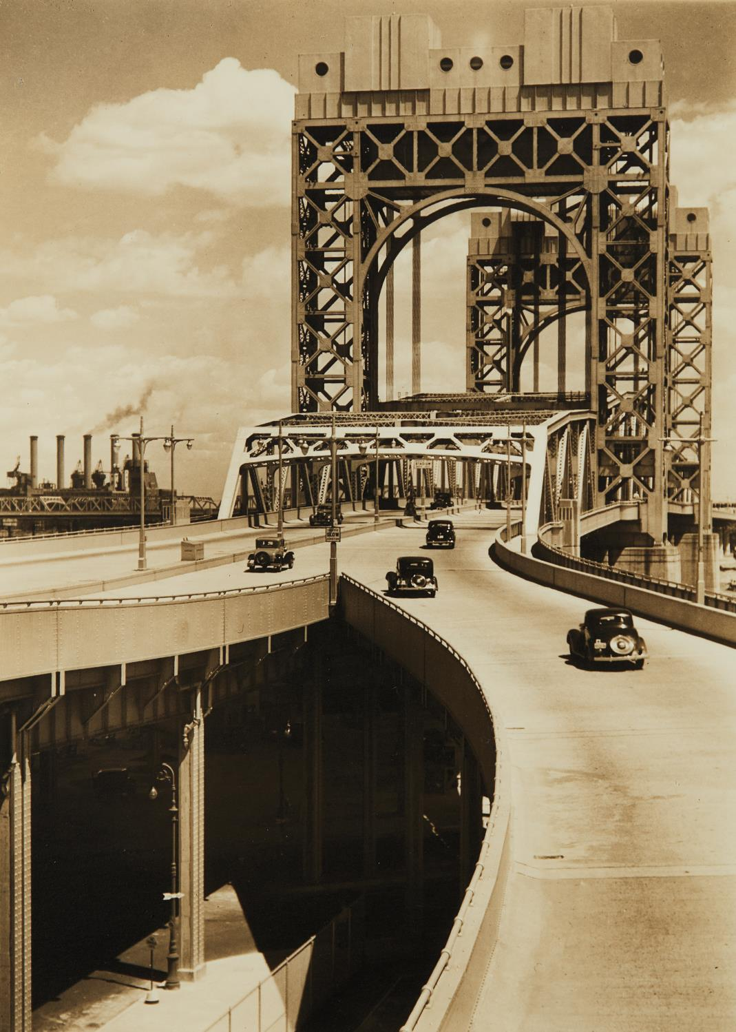 Berenice Abbott-Tri-Borough Bridge, 125Th Street Approach, Manhattan-1937