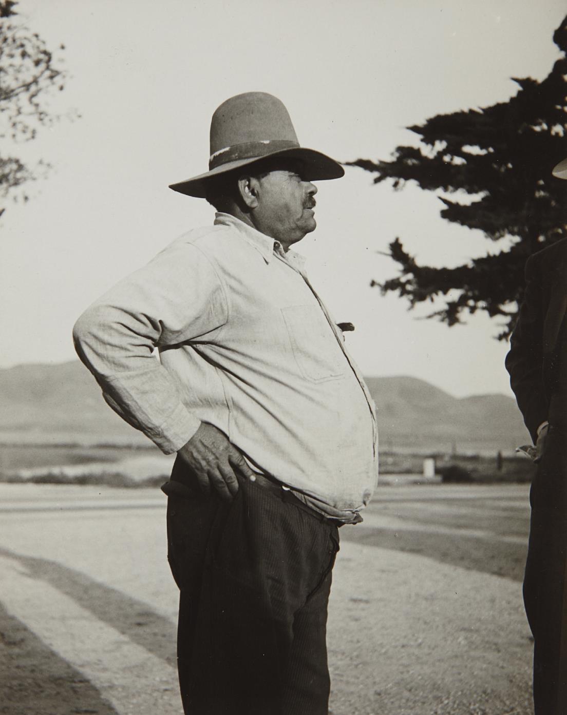 Dorothea Lange-Pea Contractor, Nipomo, California-1930