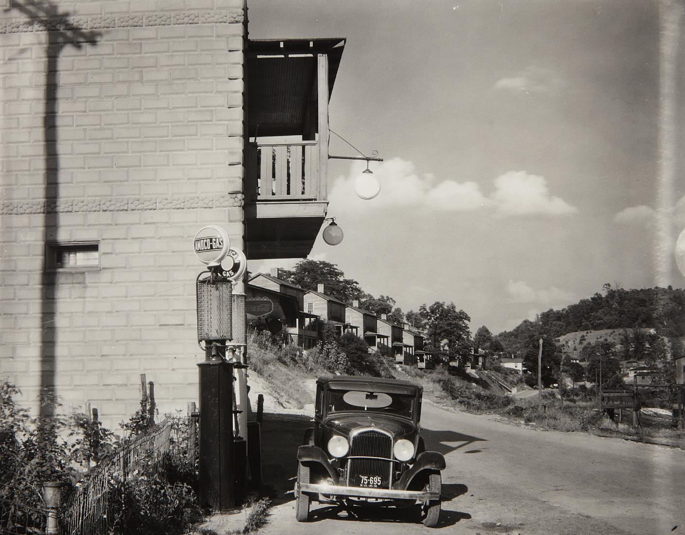 Walker Evans-Company Houses And Filling Station On Scotts Run, Vicinity Of Morgantown, West Virginia-1935