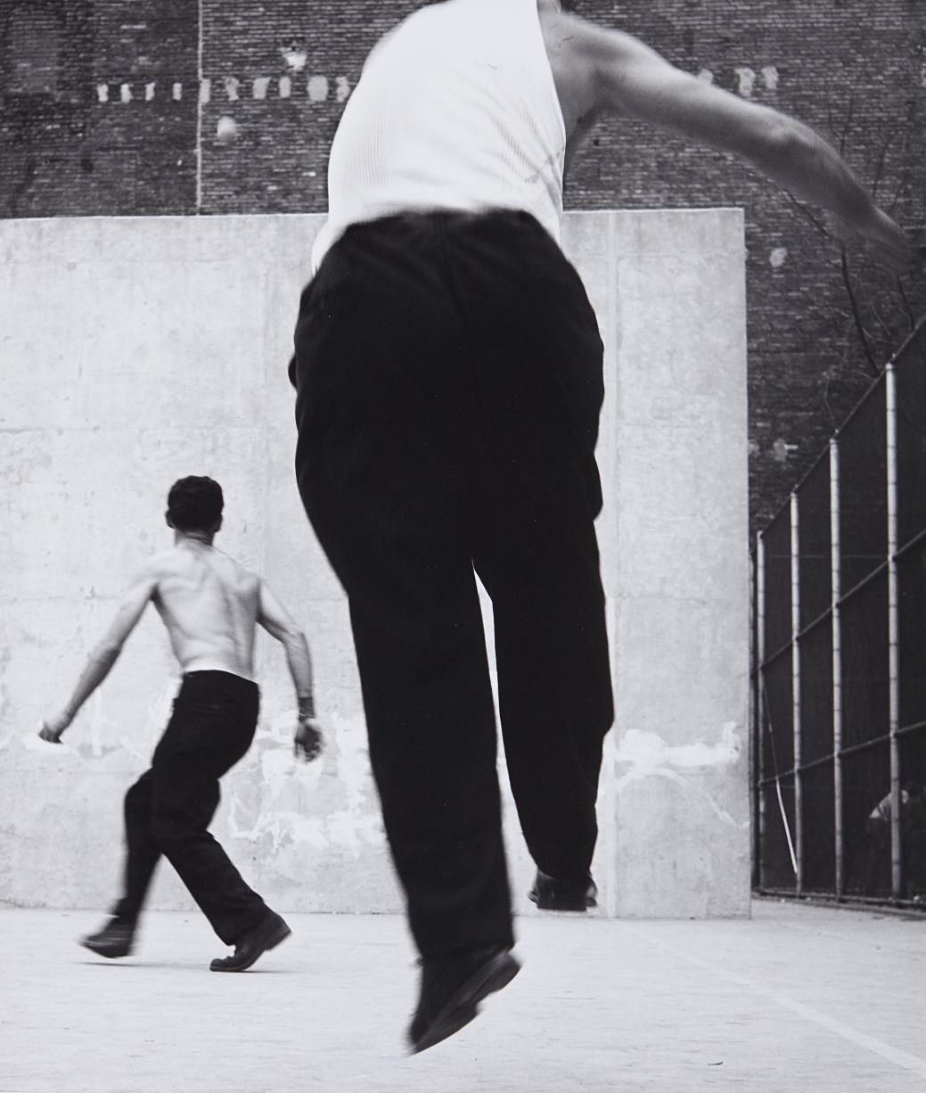 Leon Levinstein-Handball Players, Houston Street, New York-1970