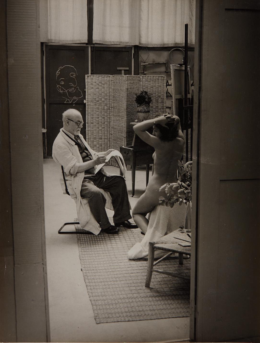 Brassai-Matisse And Model-1939