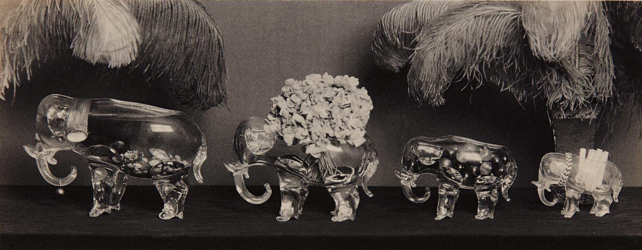 Paul Outerbridge-Four Glass Elephants-1924