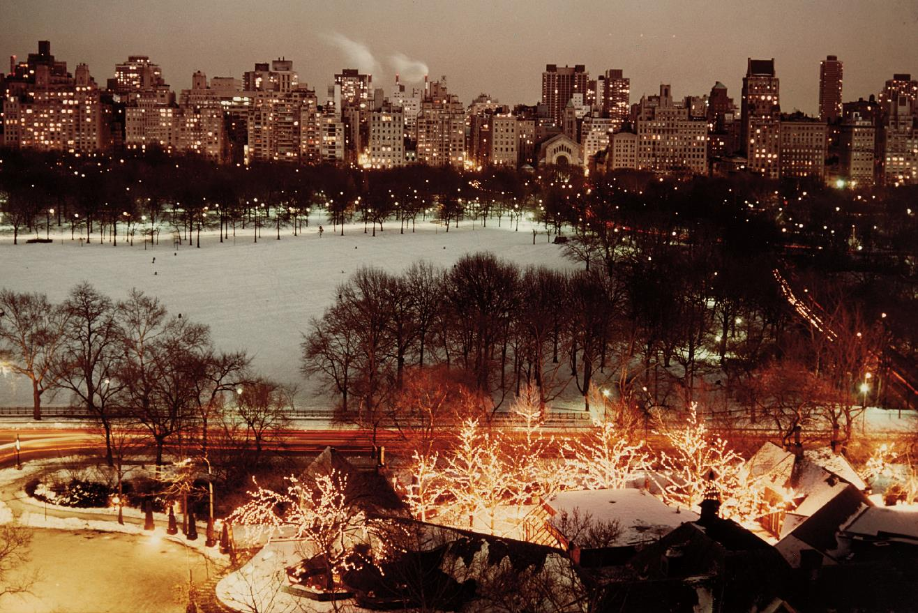 Ruth Orkin-Holiday Lights At Tavern-On-The Green, Central Park And 5Th Ave.-1976