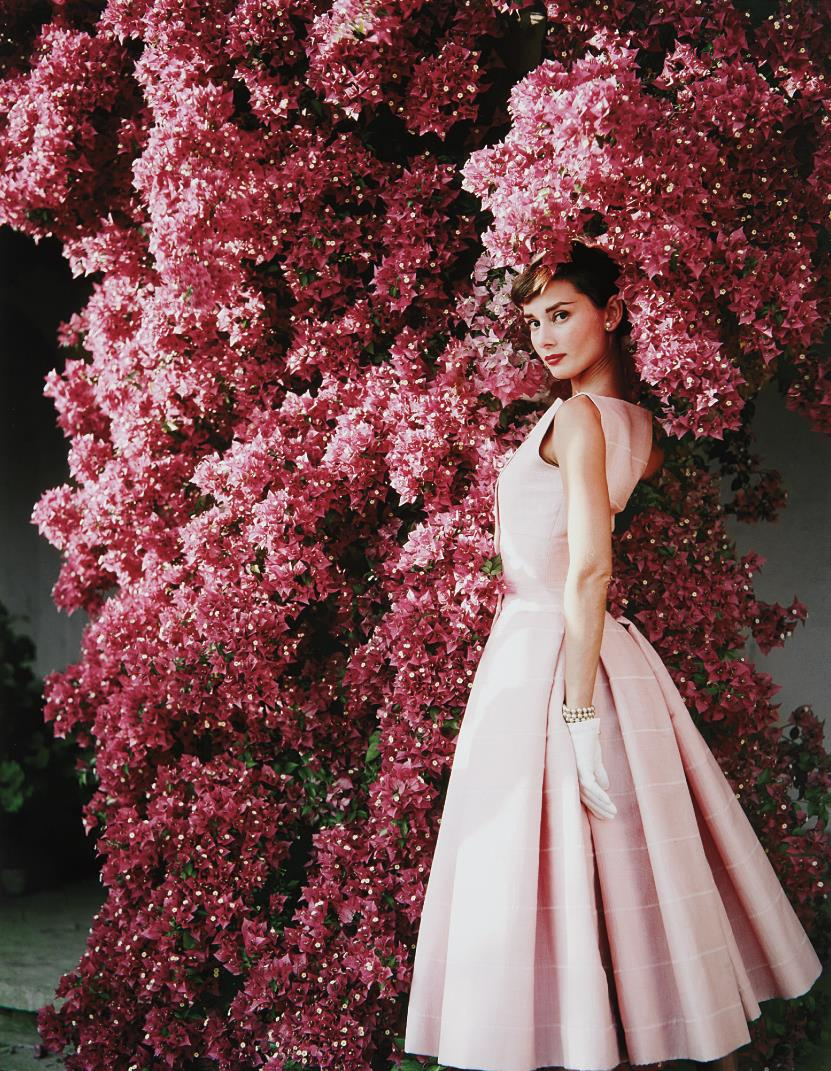 Norman Parkinson-Audrey Hepburn With Flowers II, Rome-1955