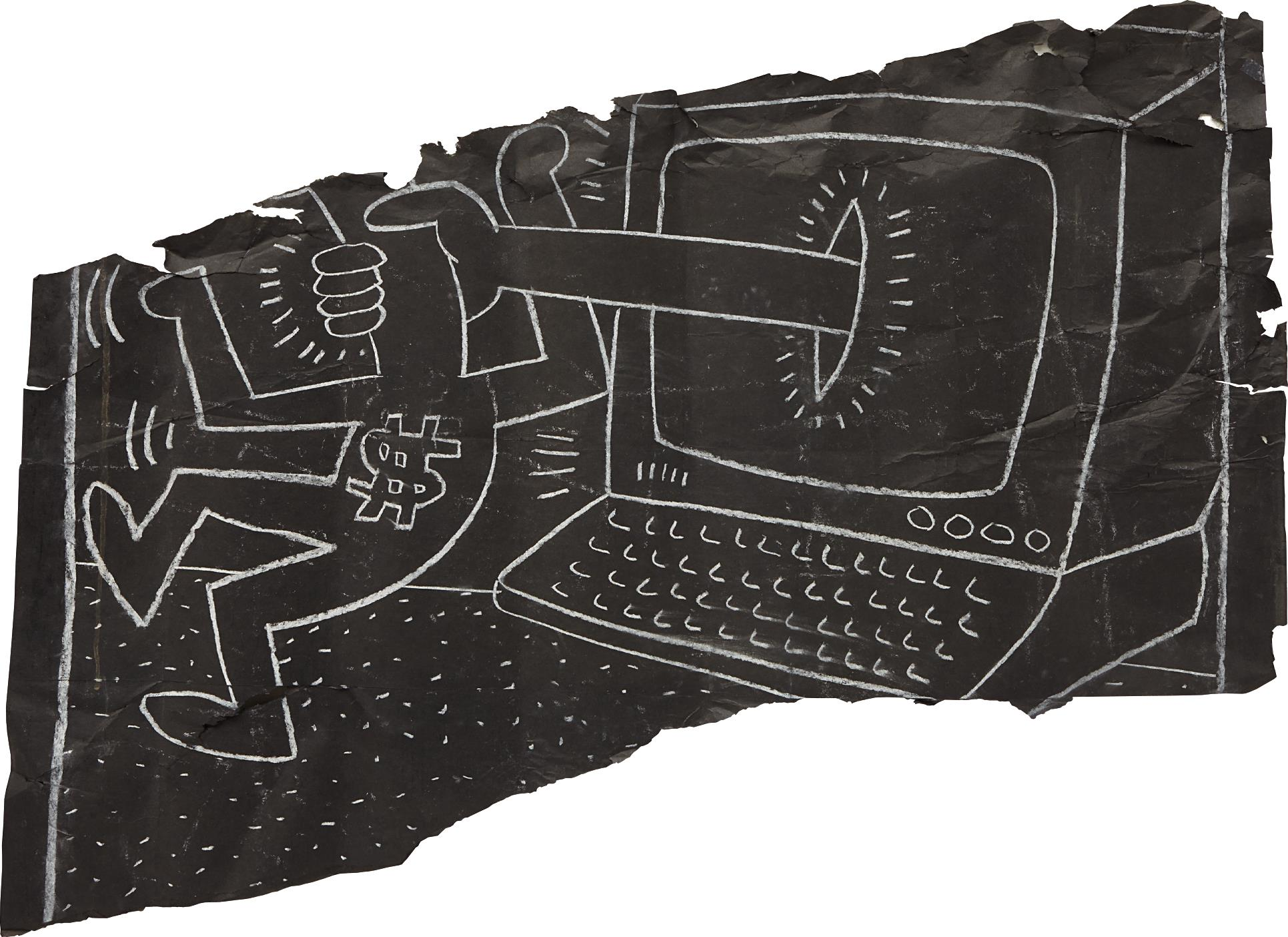Keith Haring-It's Not A Laptop-1985