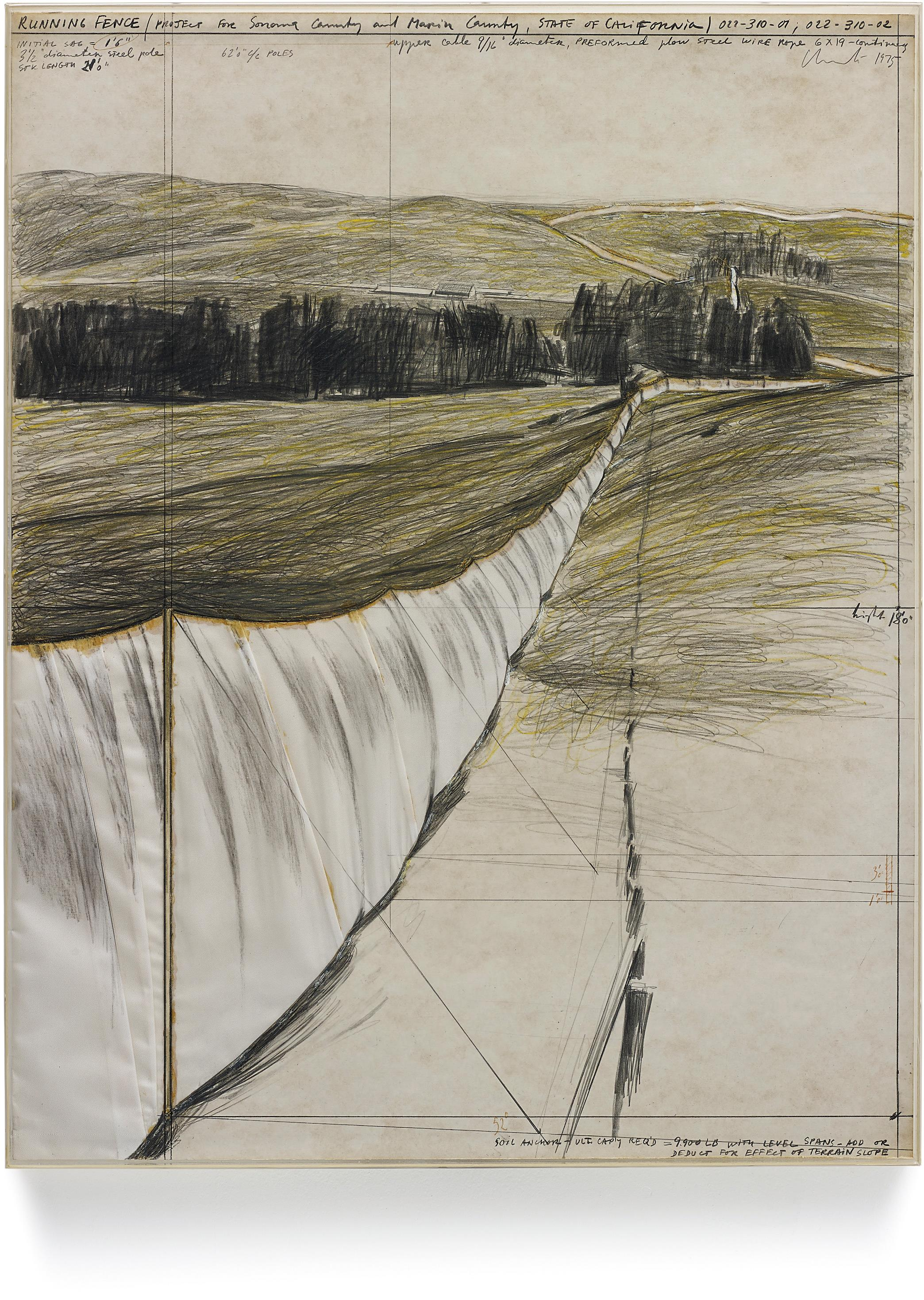Christo and Jeanne-Claude-Running Fence-1975