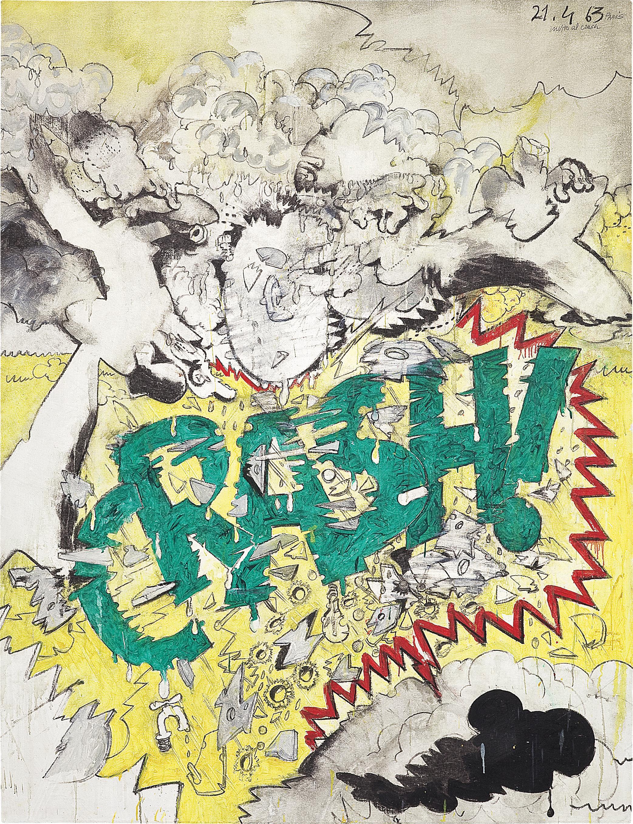 Valerio Adami-Invito Al Crash!-1963