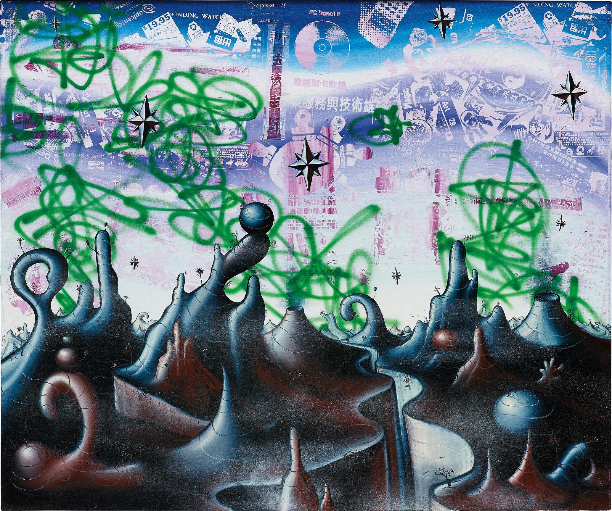 Kenny Scharf-Staticspace-2006