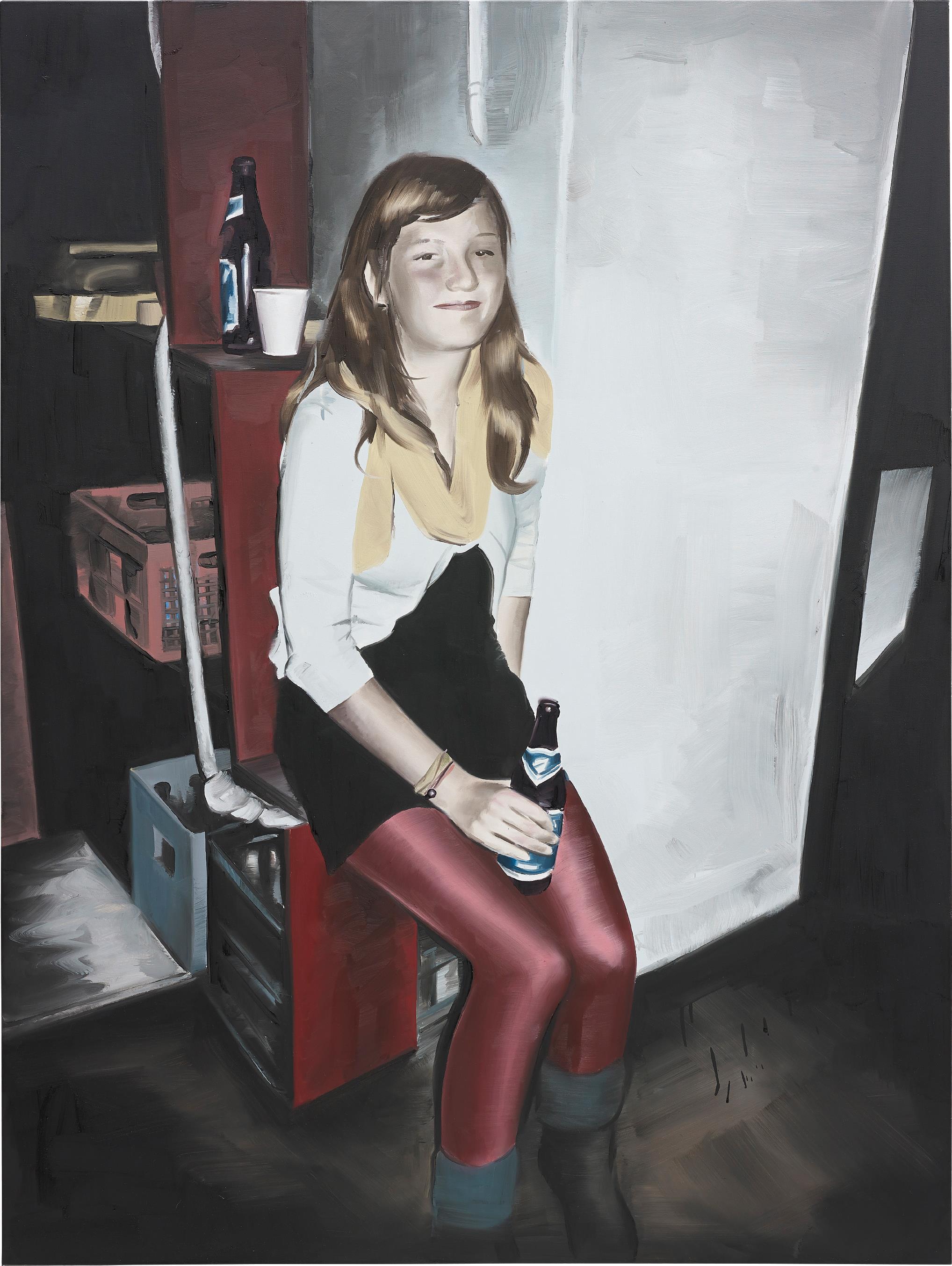 Marcin Maciejowski-Pijaco Piwo (Girl Drinking Beer)-2009