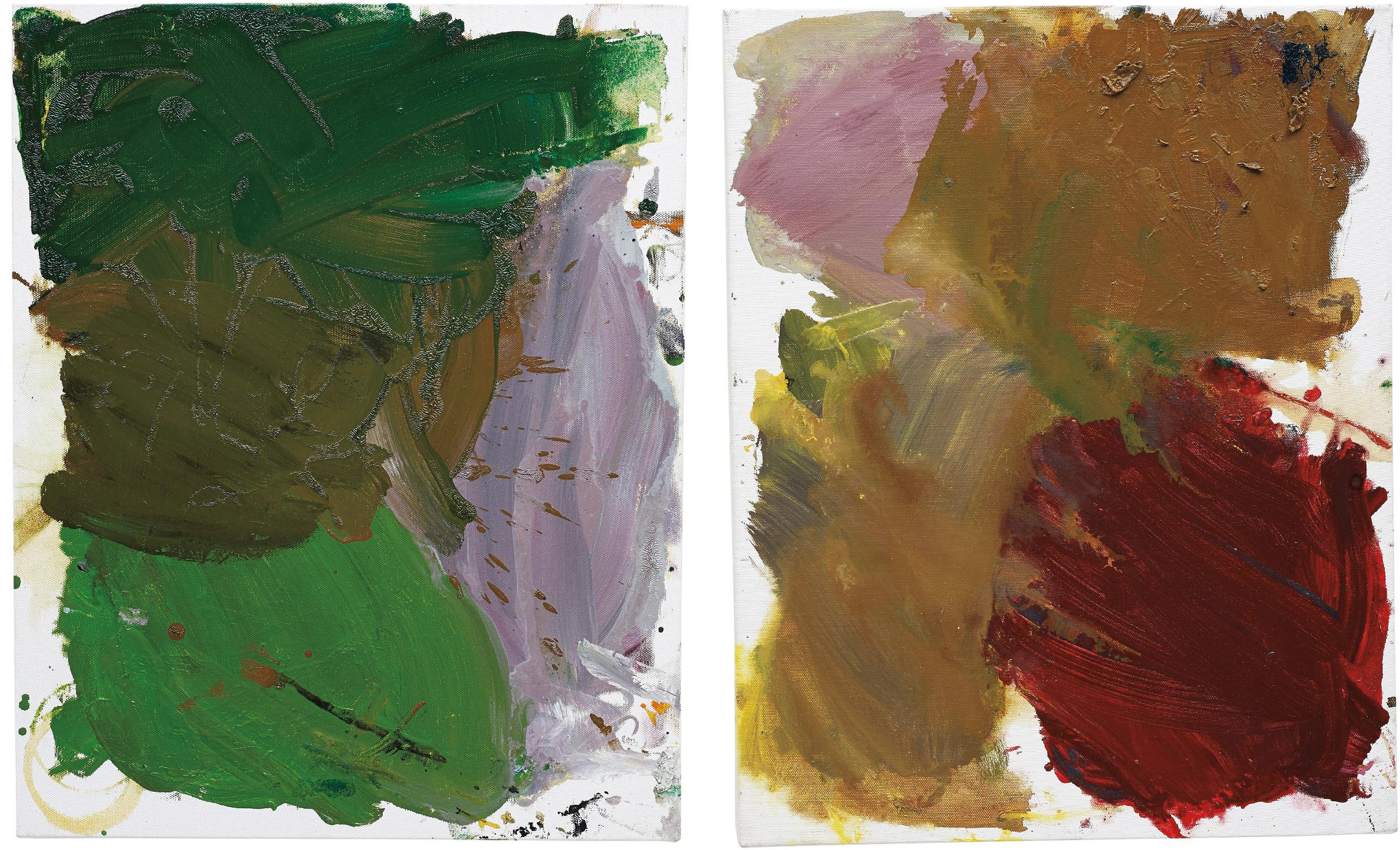 Josh Smith-Two Works: Untitled (Palette Painting)-2007