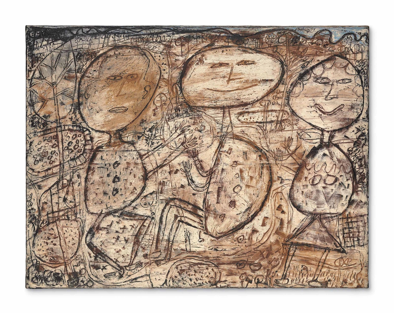 Jean Dubuffet-La Vie Agreste (The Rural Life)-1949