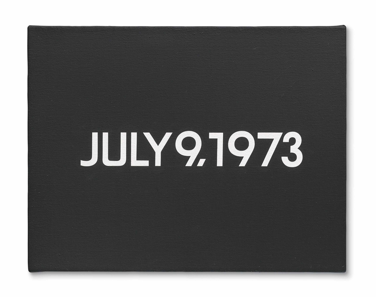 On Kawara-July 9. 1973-1973