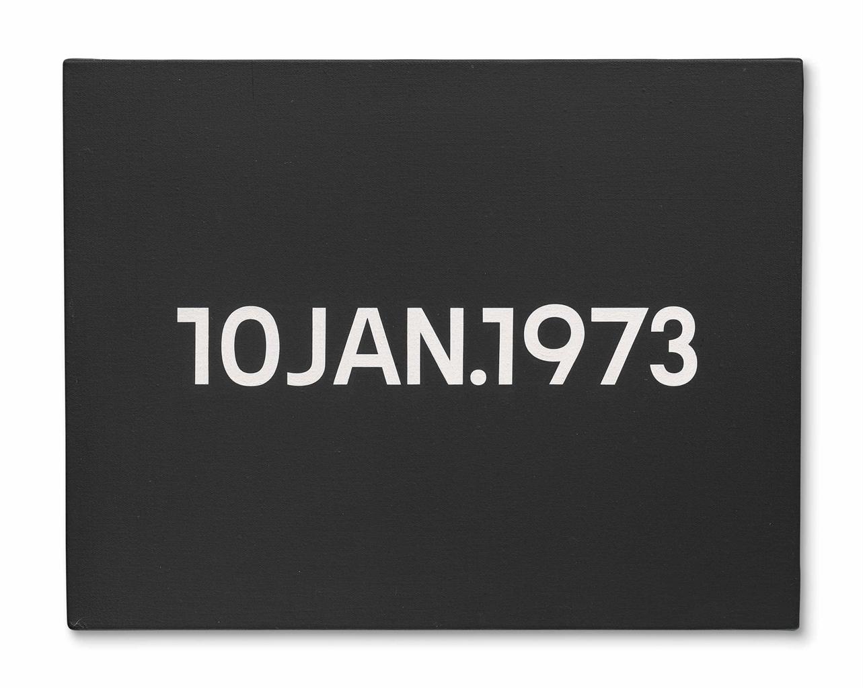 On Kawara-10 Jan 1973-1973