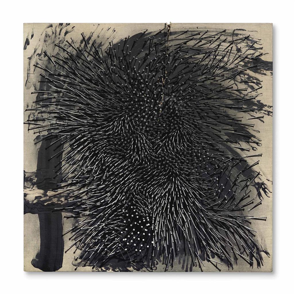 Gunther Uecker-Riß (Rupture)-1986