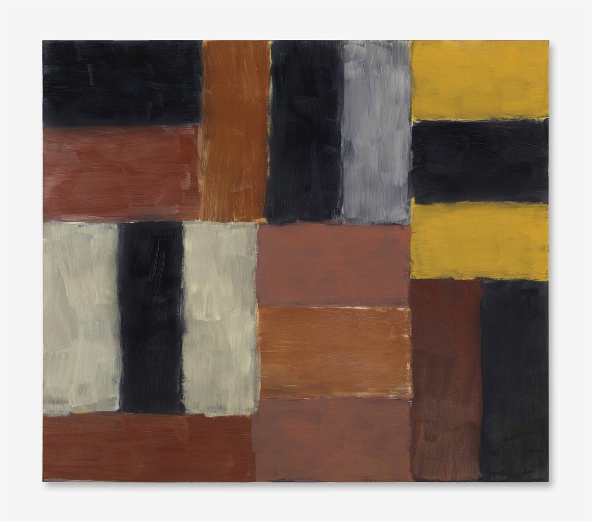 Sean Scully-Wall of Light Orange Red-2000