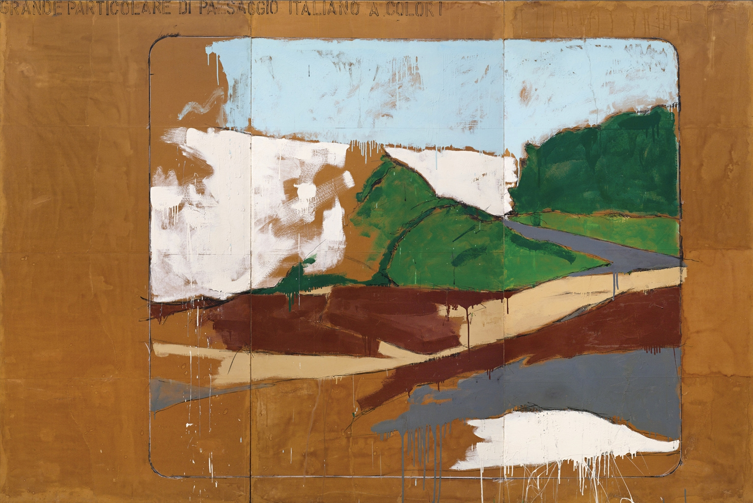 Mario Schifano-Grande particolare di paesaggio italiano a colori (Big Detail of an Italian Landscape in Colour)-1963