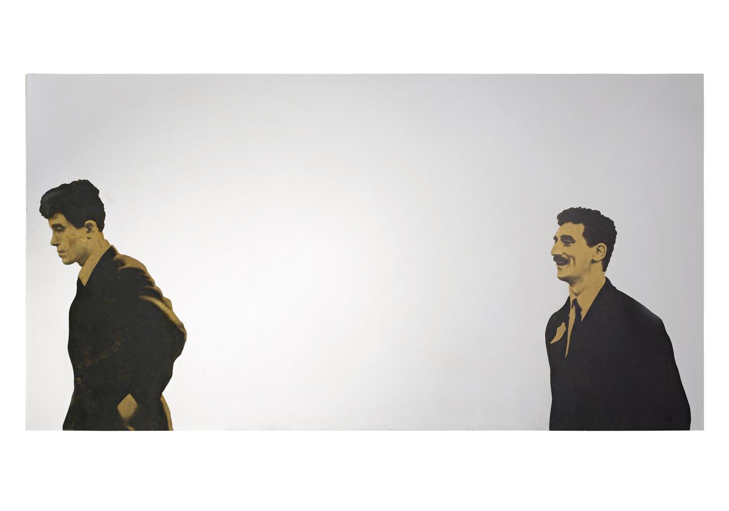 Michelangelo Pistoletto-Due uomini che camminano (Two Men Walking)-1966