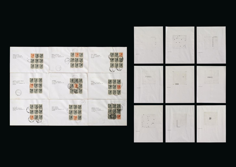 Alighiero Boetti-Lavoro postale-1974