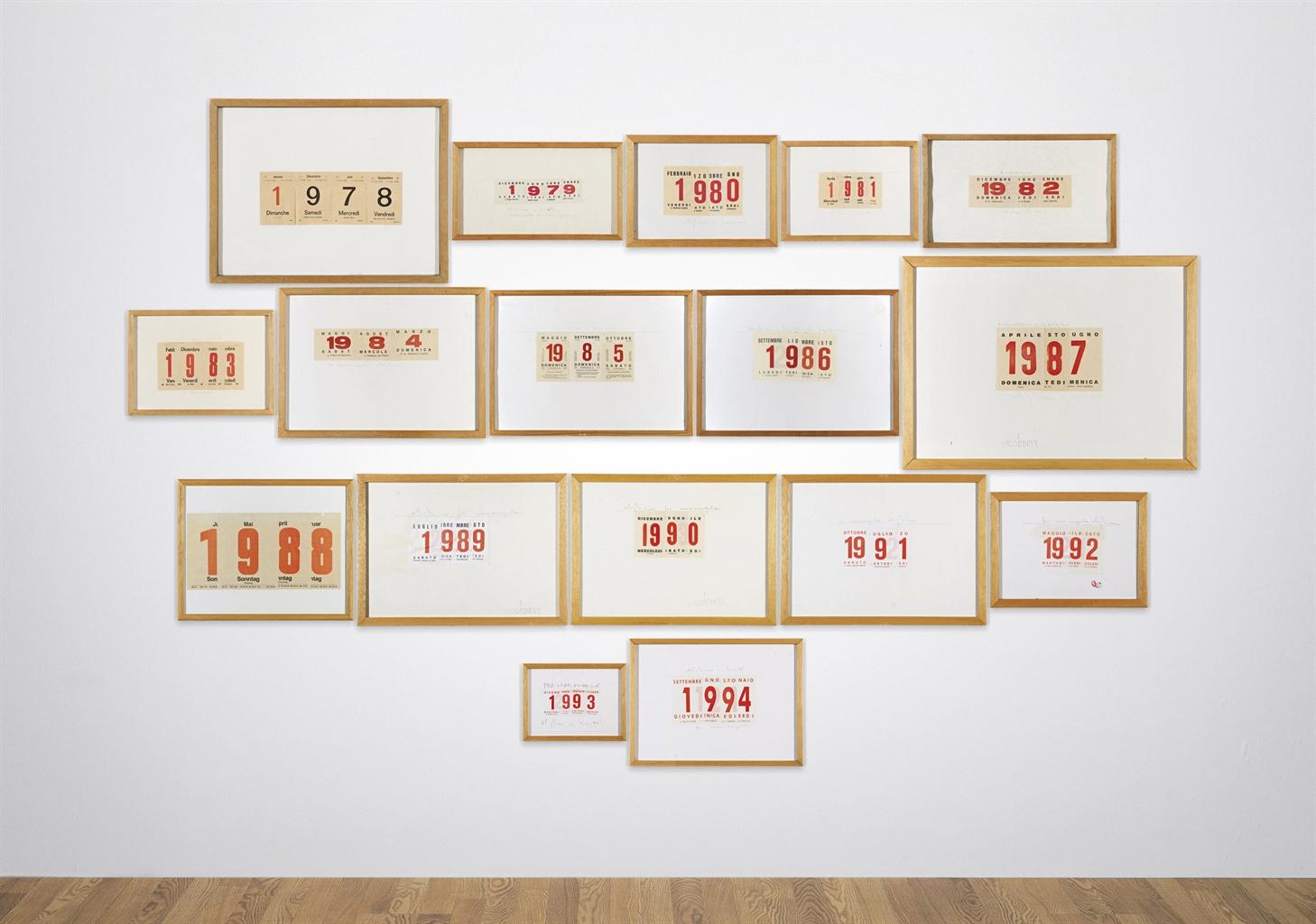 Alighiero Boetti-Calendari (Calendars)-1994