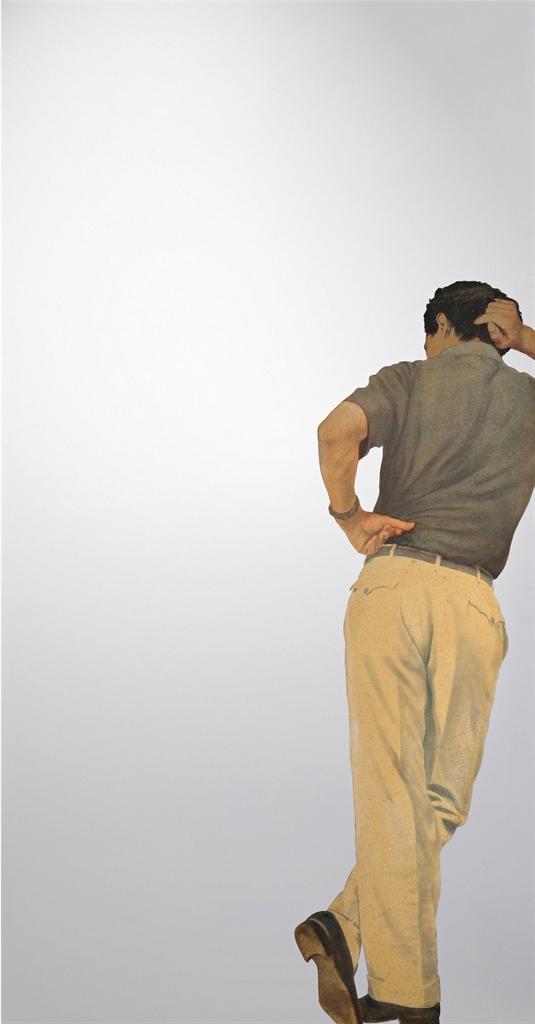 Michelangelo Pistoletto-Uomo appoggiato (Leaning Man)-1966
