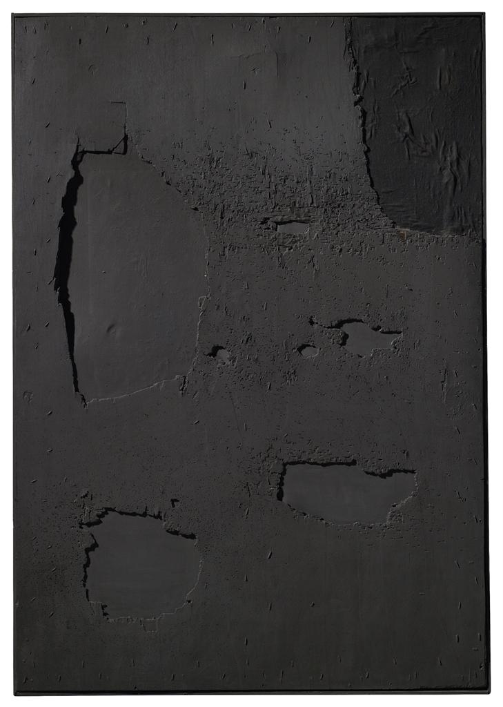 Alberto Burri-Nero Legno-1961