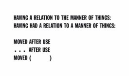 Lawrence Weiner-HAVING A RELATION TO THE MANNER OF THINGS-1974