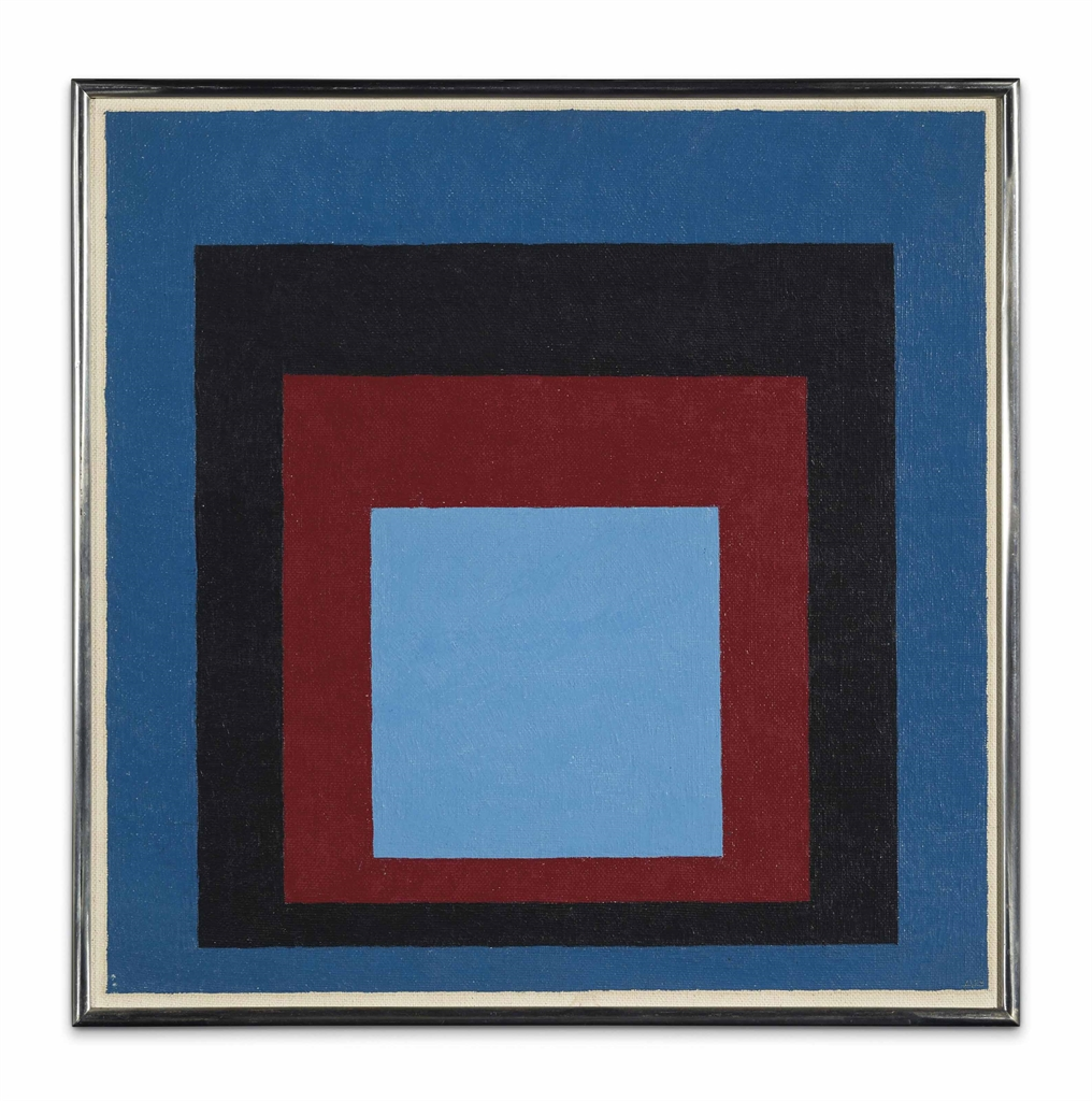 Josef Albers-Homage to the Square: Between two Skies-1954