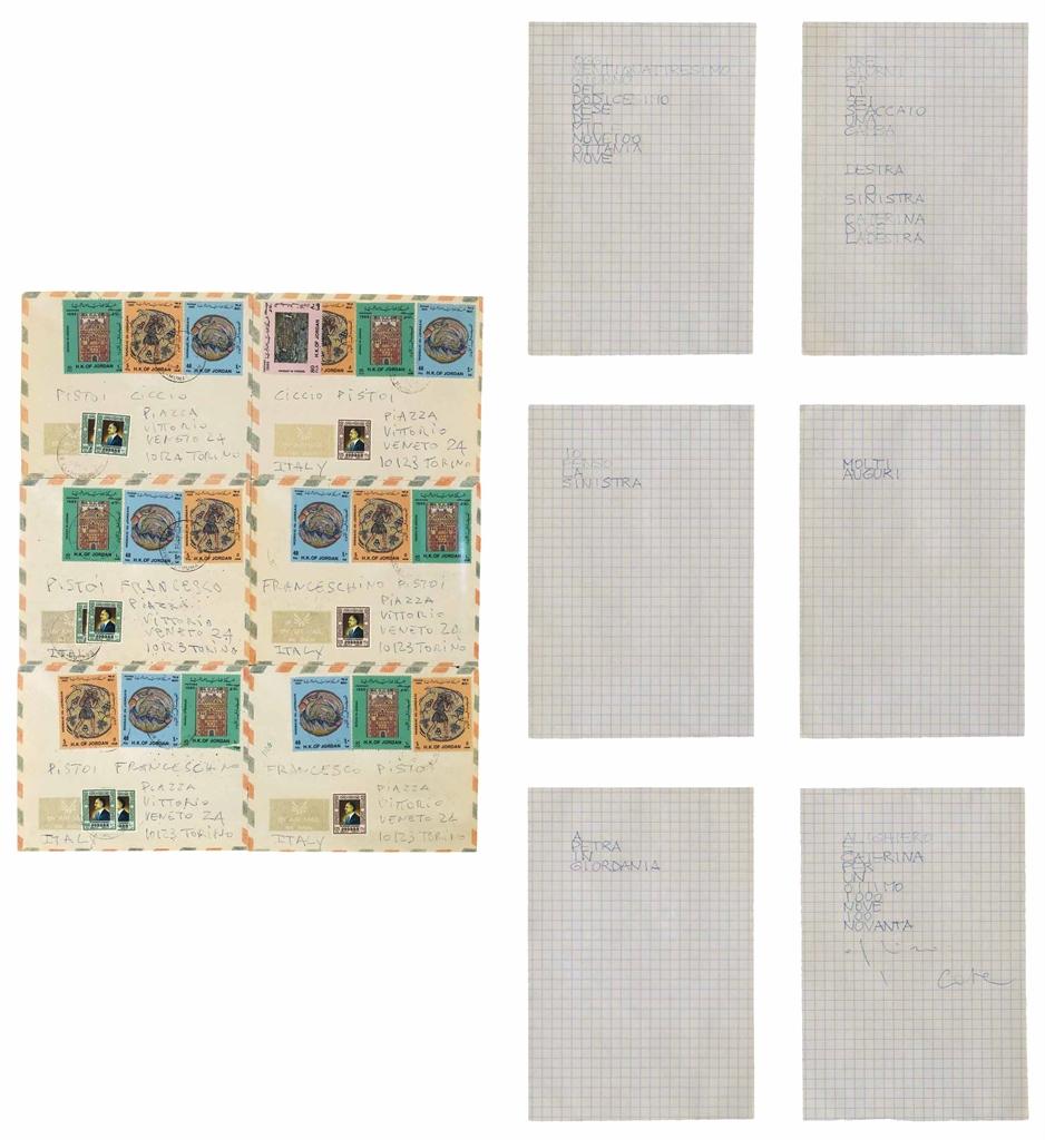 Alighiero Boetti-Lavoro postale (Permutazione) (Postal work (Permutation))-1990