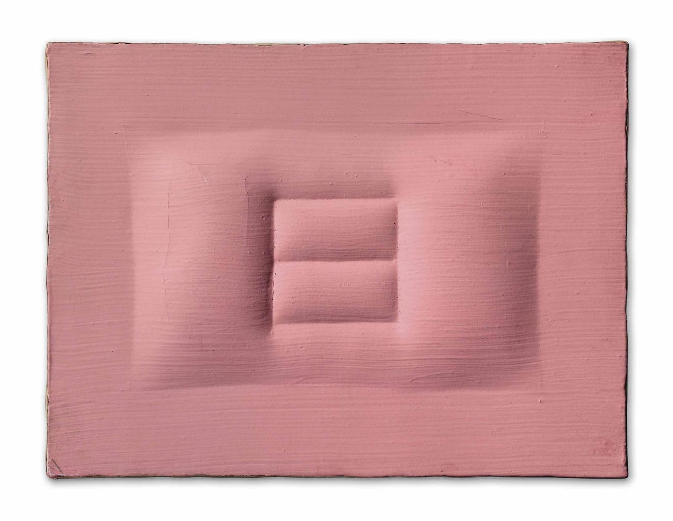 Agostino Bonalumi-Rosa (Pink)-1963