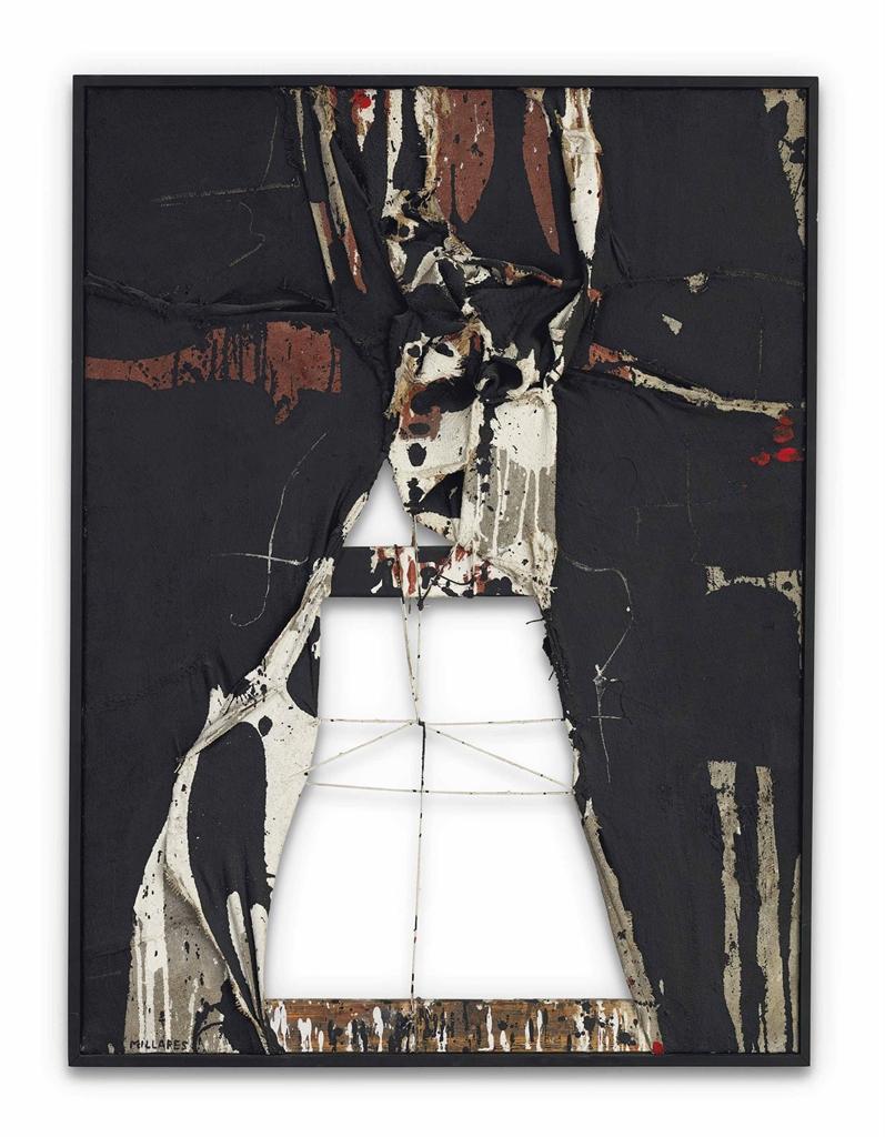 Manolo Millares-Cuadro 193 (Painting 193)-1962
