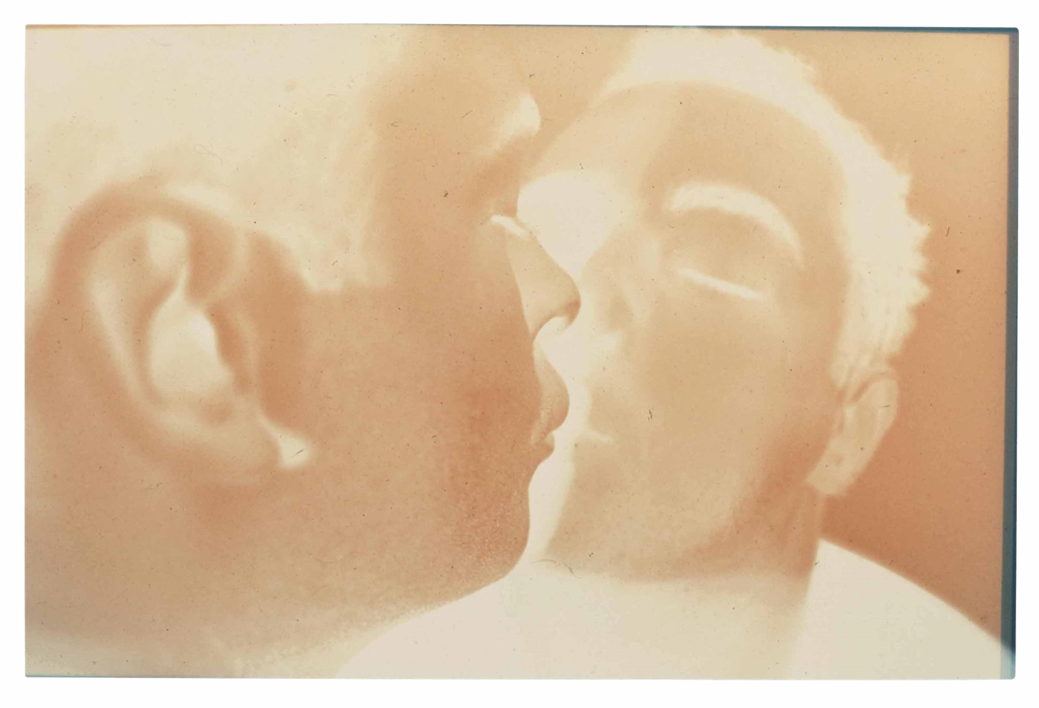 Douglas Gordon-Self-portrait (Kissing with Scopolamine)-1994