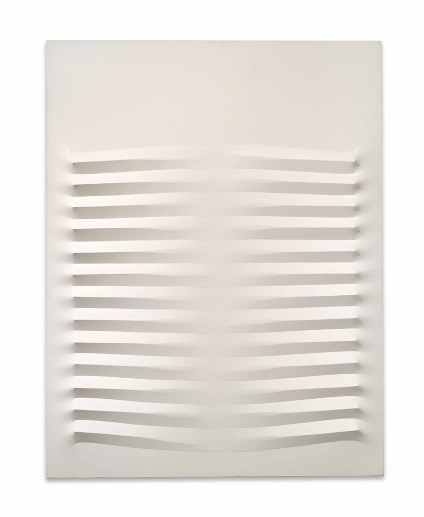Agostino Bonalumi-Bianco (White)-1977