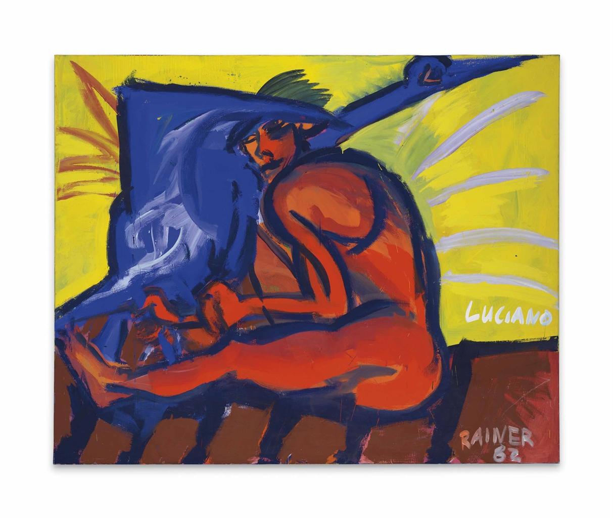 Rainer Fetting-Luciano-Schwan III (Luciano-Swan III)-1982