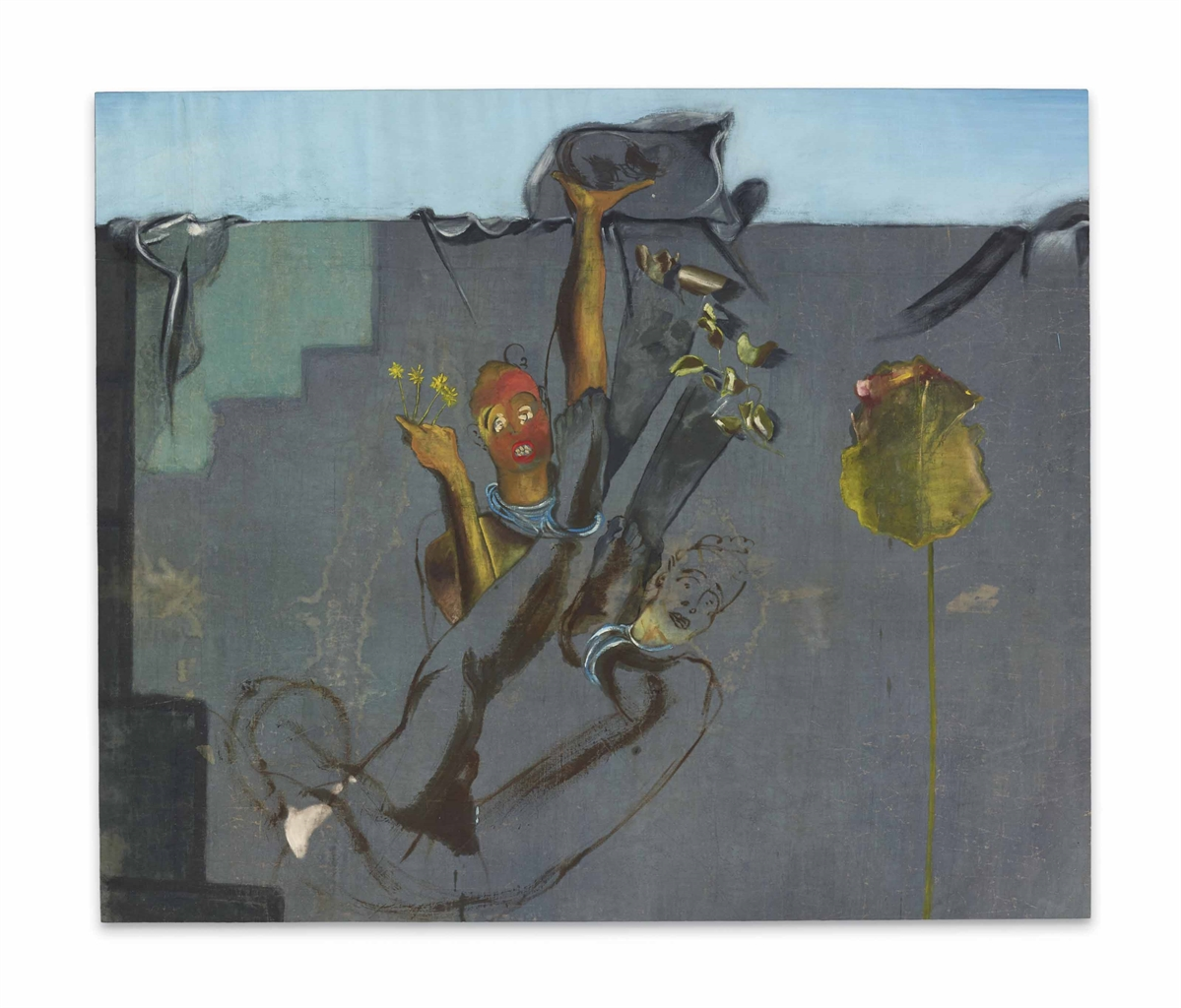 Francesco Clemente-Line (Figures with Flowers)-1983