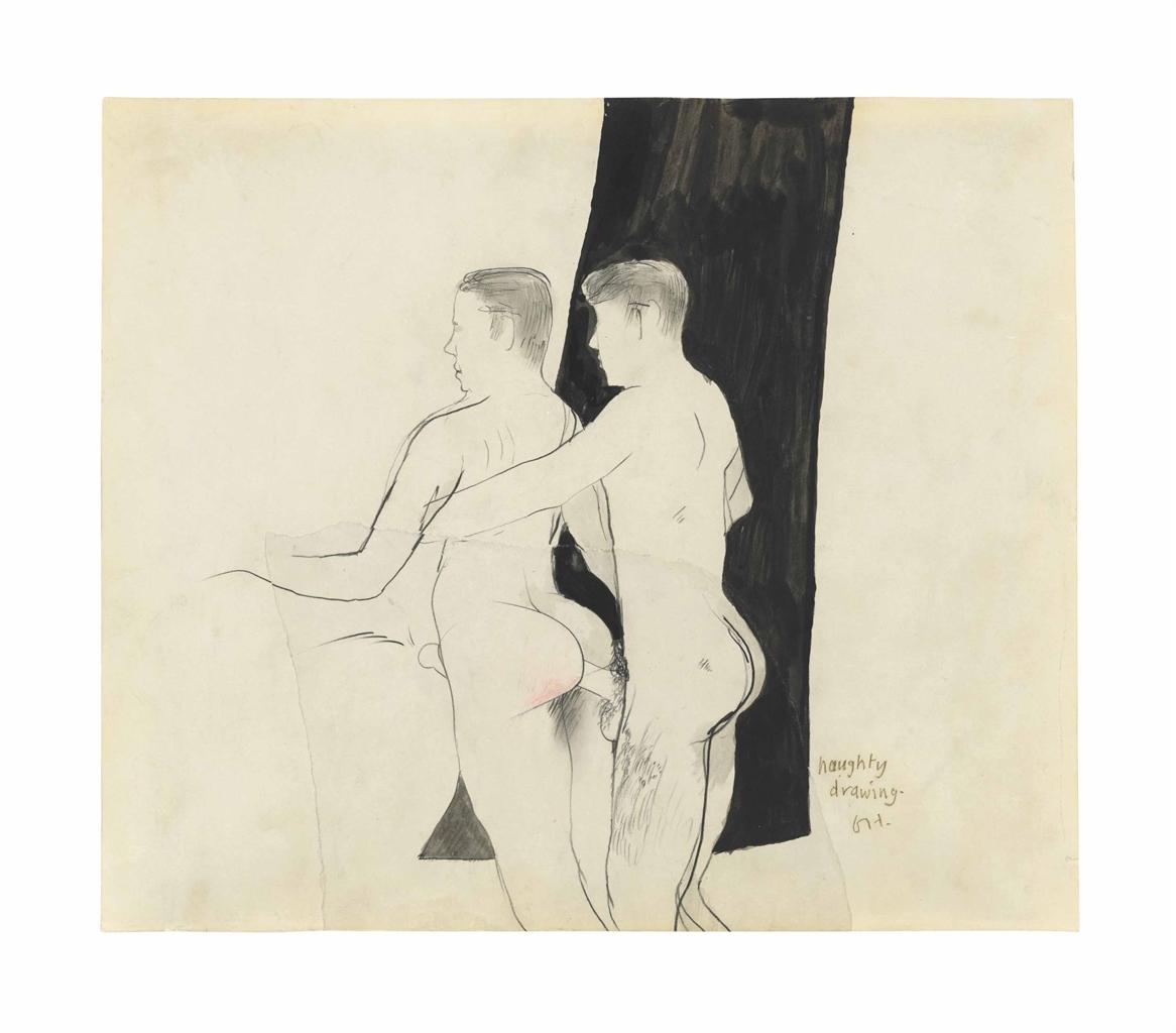 David Hockney-Naughty Drawing-1962