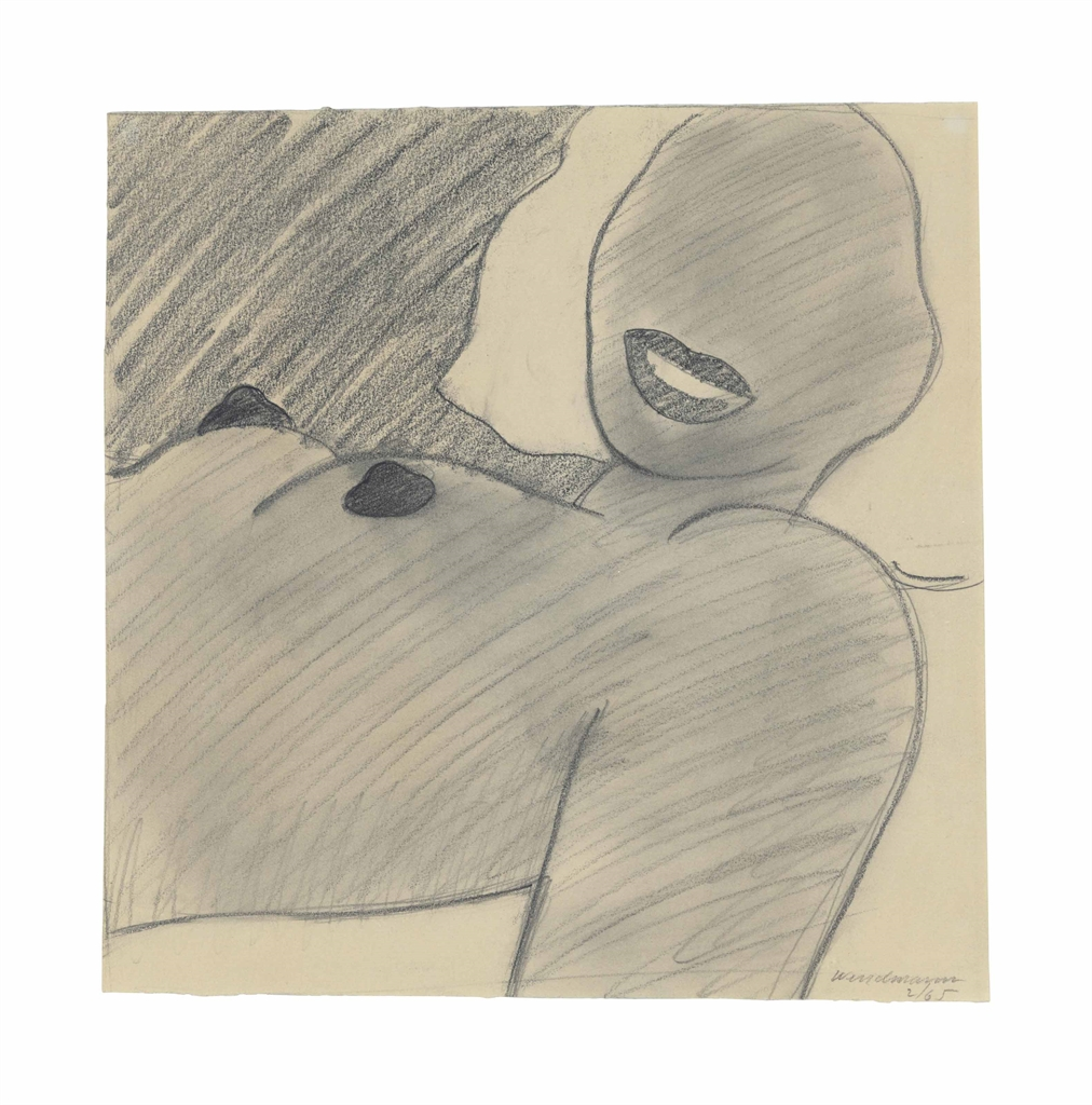 Tom Wesselmann-Drawing for Great American Nude #74-1965