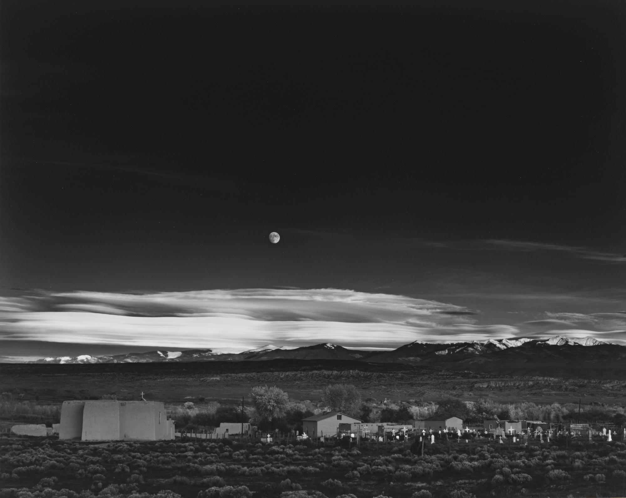Ansel Adams-Moonrise HernandezNew Mexico-1941