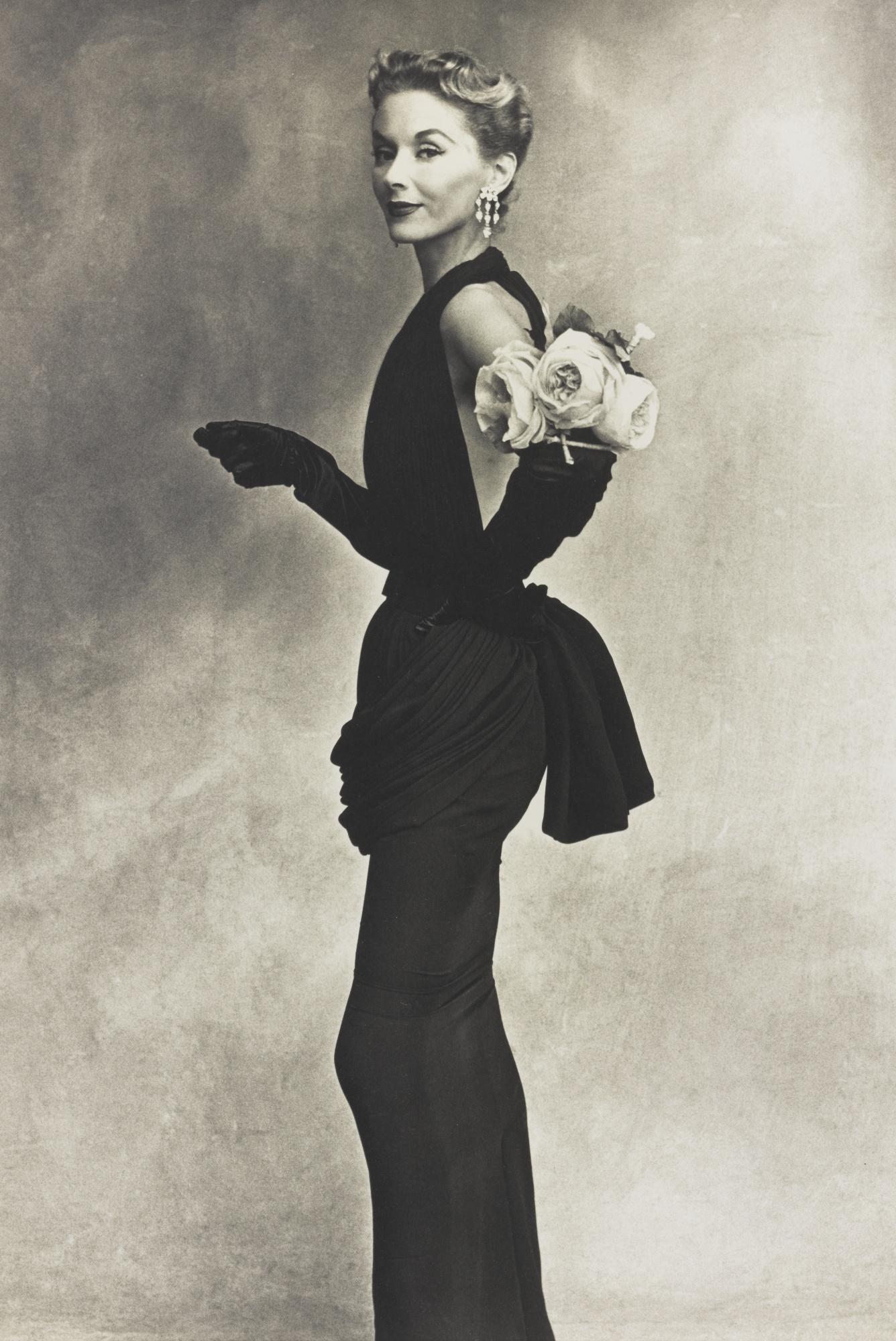 Irving Penn-Lisa Fonssagrives-Penn (Woman With Roses)-1950