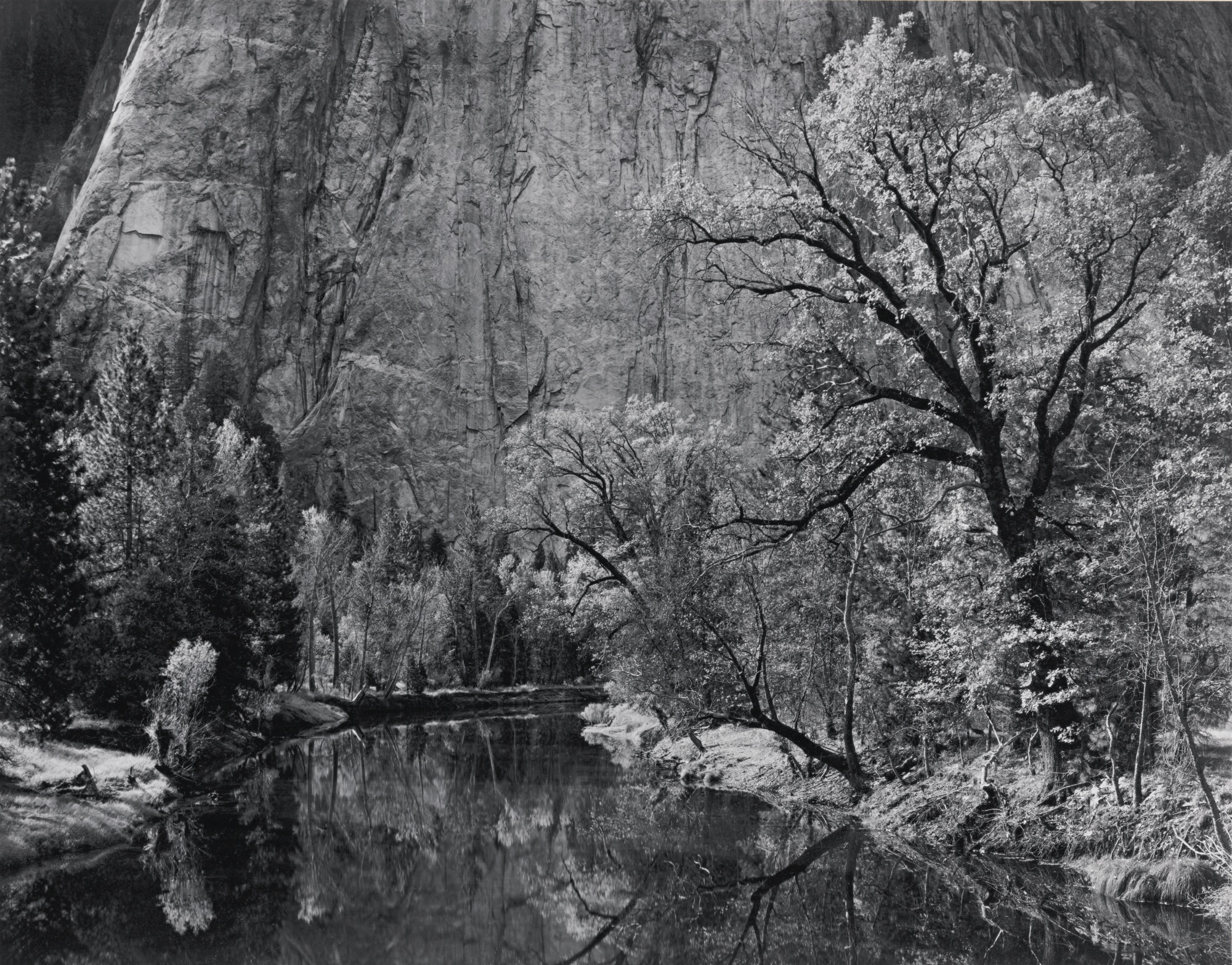 Ansel Adams-River Cliffs Autumn Yosemite National Park California-1939